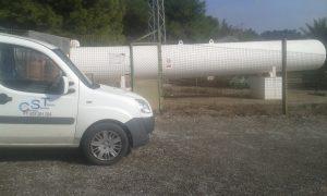 Depósito de propano. Carthago Servicios Técnicos.