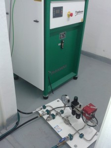 Prueba hidráulicas hasta 600 bar de presión.
